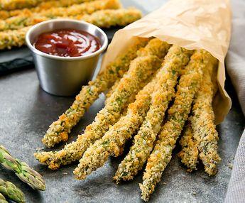 Baked Parmesan Asparagus Fries