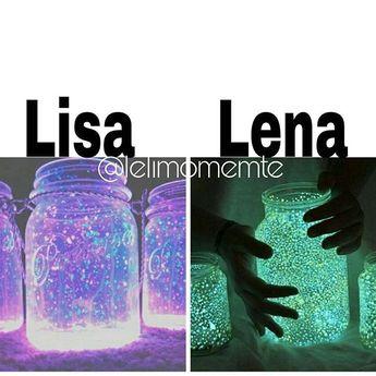 Lisa or Lena?  Subject: Light-Up Mason Jar  My Choice: Lisa