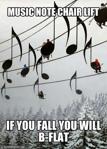 Music note chair lift…