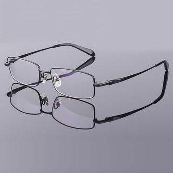 fd106f202151 Full Rim Pure Titanium Eyeglasses Frame for Men Optical Glasses Frame  Prescription Eyewear Spectacles