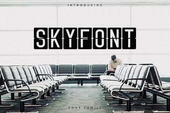 Skyfont Font Family - Sans Serif