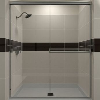 "Arizona Shower Door SE 60"" x 70.38"" Bypass Semi-Frameless Shower Door"
