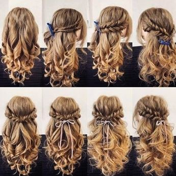 No matter your hair is long medium or short, your stylist will always find the right hairstyle that suits you best, especially on your big day! From updo, braids, to half up half down style,with crown or with flowers and headpiece, morden or vintage, the following easy simple bridal DIY hairstyles ideas are the ideal for girls with a high glamour and elegance!#wedding hairstyles #hairtutorial#hairtutorialeasy#DIY