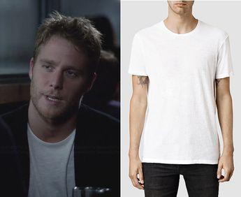183c8c91173b Brian Finch (Jake McDorman) wears an AllSaints Mens Figure Crew T-Shirt in