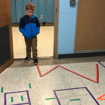 You don't have to have a big space to do a Sensory walk!
