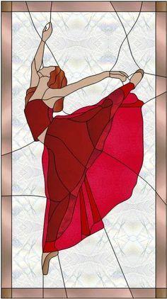 danseuse de ballet - Ballerina by Manon Cayer #StainedGlassMosaic