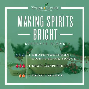 """Young Living Education on Instagram: """"Make your spirits bright with this grounding, yet uplifting blend of Northern Lights Black Spruce, Grapefruit, and Orange essential oil. .…"""""""