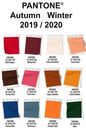 Pantone New York Color Palette for Fall/Winter 2019/2020. Each season the team a