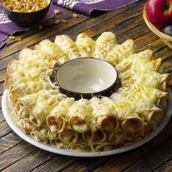 Diesem Snack mit Toast, Schinken und Käse kann niemand widerstehen! #rezepte #snack #toast #käse #schinken #fingerfood