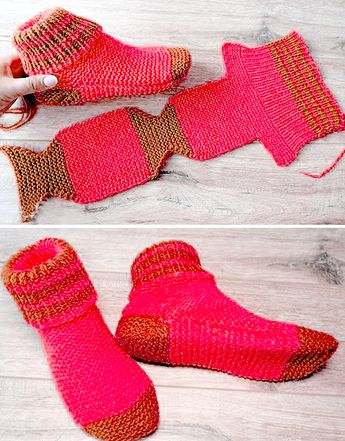 Two Needle Socks - Free Knitting Pattern