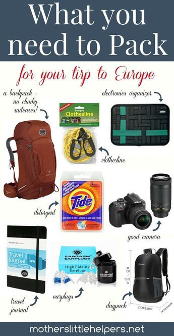 What You Need to Pack for Your Trip to Europe