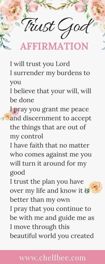 Trust God Affirmation