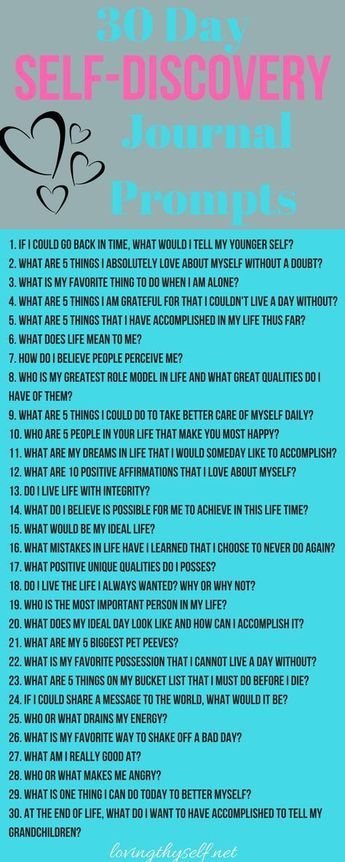30 Day Journal Prompts For Self-Discovery