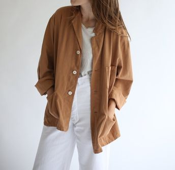 98d82a84ee3 Vintage Almond Brown Overdye Chore Jacket