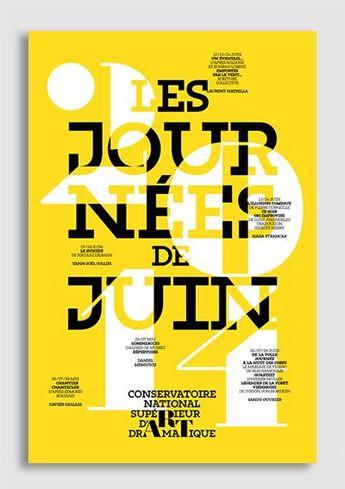 Studio Des Signes / Journées de juin - Conservatoire d'Art dramatique #posters #graphicdesign #typography #font #art #culture