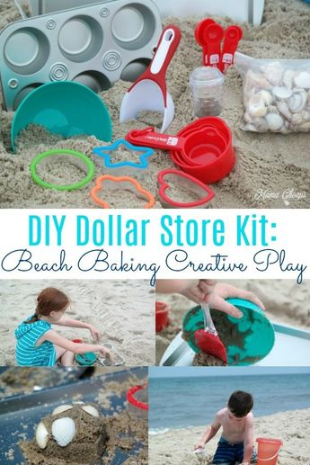 DIY Dollar Store Beach Baking Set for Creative Play
