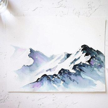 Snowy Mountains Watercolor Paint Kit