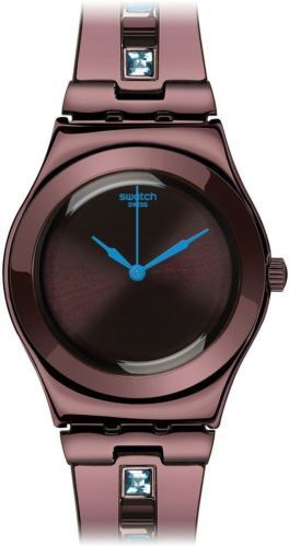 Swatch Women's YLC100G 'Irony Saphring' Brown Stainless steel Watch