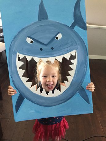 Finding nemo shark photo prop diy