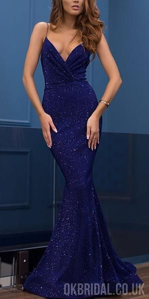 9dd5aff0 Sparkly Sequin Different Colors Mermaid Backless V-neck Sexy Prom Dresses,  FC2242