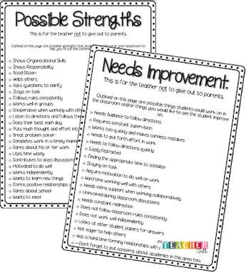 Parent-Teacher Conference Kit {FREEBIE}