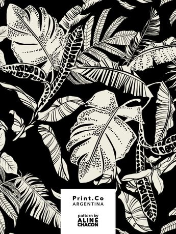 Tropical textile pattern for PrintCo Argentina, summer 2019.