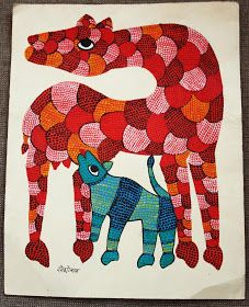 gooseberrypost: Gond art...its a jungle out there!