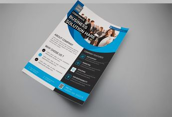Superior Modern Business Flyer Design Template - Graphic Templates