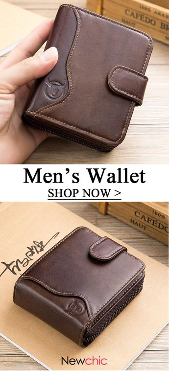 Shop Newchic.com to browse the most trendy vintage wallet for men now. #mens #wallet #vintage
