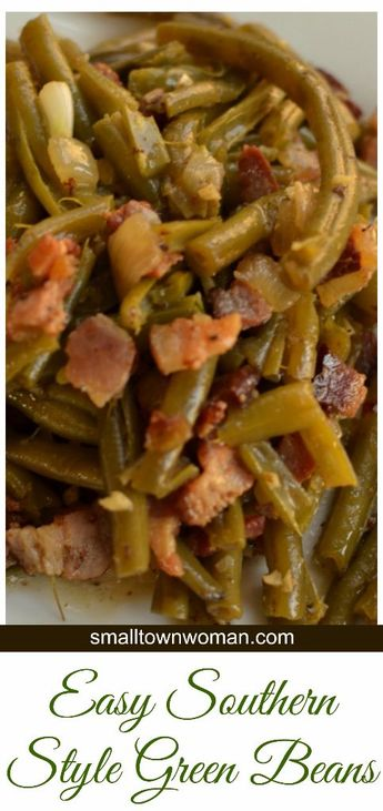 Southern Style Green Beans combine fresh green beans, smoked bacon, and onion into the most mouth watering side imaginable.