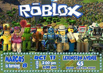 Roblox Invitationroblox Birthday Partyroblox Download