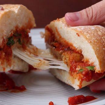 Cheesy Chicken Parmesan Burgers Recipe by Tasty