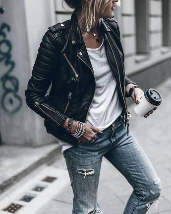 Details about Women's Genuine Lambskin Motorcycle Real Leather Jacket Slim fit Biker Jacket
