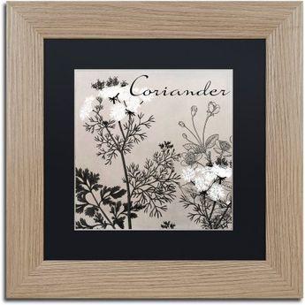 "Trademark Fine Art ""Flowering Herbs IV"" Canvas Art by Color Bakery Black Matte, Birch Frame - Walmart.com"
