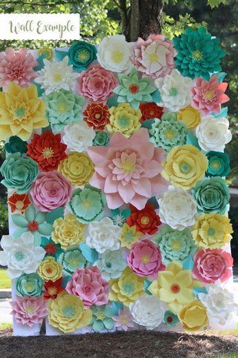Paper Flower Rose Backdrop DIY Paper Flower Patterns And