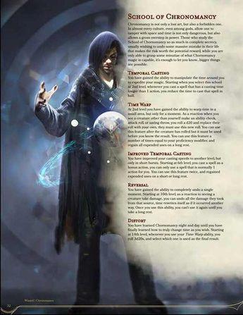 Rogue Subclass: Chronokeeper v2 + 2 Chronomancy Magic Items