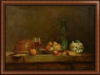Still Life with a Bottle of Olives, 1760