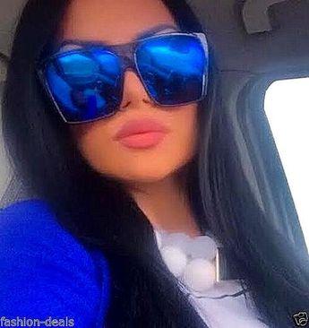 214b91805c Flat Top Huge Big Oversized XXL Square Women Sunglasses