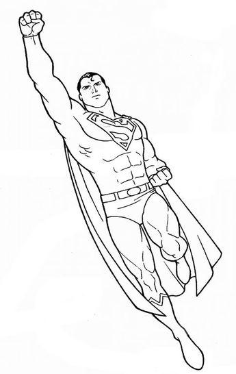 Coloriage Superman à colorier - Dessin à imprimer