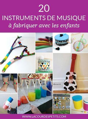 20 instruments de musique à fabriquer avec les enfants