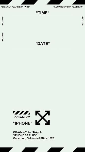 "Off-White Lock Screen Wallpaper ver. 1 ""MINT GREEN"" (Specifically for iPhone ...- Anthony Poli Mariani"