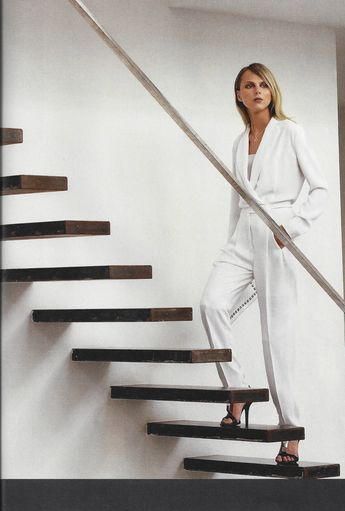 47b04be8428 Two classic silhouettes rolled into one. jumpsuit  107A-White 4-ply silk
