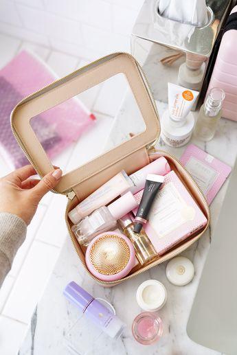 Travel Skincare Essentials Bite Beauty Agave Lip Mask, Foreo UFO, Kate Somerville Eradikate Cleanser