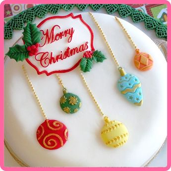 Katy Sue Designs Mould - Christmas Baubles Katy Sue Design Moulds available online from www.hostesspro.co.za #cakedecorating #sugarcraft #hostessprosugarcraft