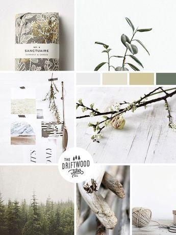 Inspiration Moodboard Nature parfait pour un site web dédié au Bien-être