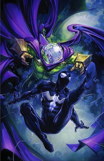 Marvel Comics Comic Book Artwork • Spider-Man Vs Mysterio by Clayton Crain. Follow us for more awesome comic art, or check out our online store www.7ate9comics.com