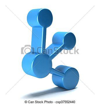Network icon. 3D rendering illustration - csp37552440