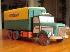 Volvo N88 Truck Free Vehicle Paper Model Download