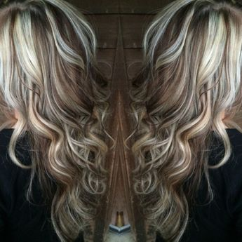 Beautiful White Blonde Highlights With Chocolate Brown Low