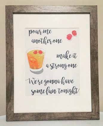 Pour Me Another One Wall Art, Zac Brown Band